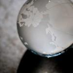 不思議なガラスの地球儀
